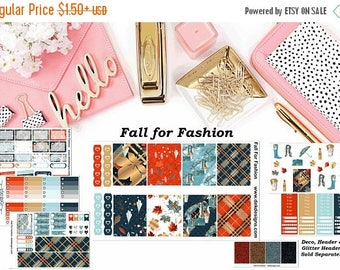 40% Off Sale Fall for Fashion, 6 sheet weekly kit//EC//Hp classic, large mini
