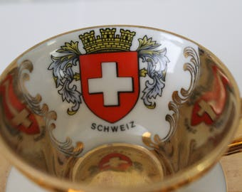 Western Germany Bavaria Tea Cup and Saucer (Schweiz)