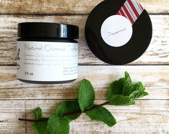 Natural Toothpaste +Plus | PEPPERMINT | Charcoal Toothpaste + Baking Soda
