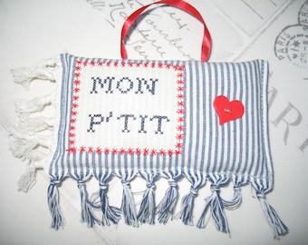 MY P door cushion ' little heart