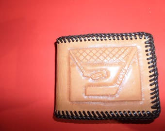 Leather sports wallet / Canadian made / Customizing  /  STOCK  # 7060 A .