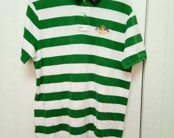 Rare Vintage POLO RALPH LAUREn Cross Flags Polos Shirt Size LL