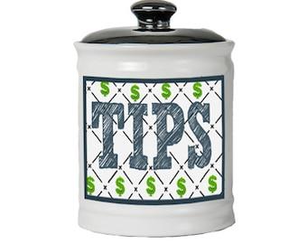 Tips Jar - Tip Jar For Money - Gifts For Waitresses