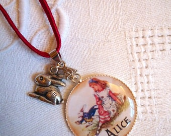 Necklace child Alice in Wonderland country