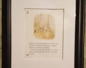 Flopsy, Mopsy, Cotton-tail, and Peter - The Tale of Peter Rabbit - Beatrix Potter - Aproximaitely 5 1/2 x 7 1/2 inches
