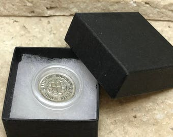 80th birthday gift 1938 Silver Threepence boxed with coin capsule