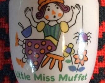 Ceramic Egg Cup - Little Miss Muffet