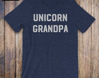 Unicorn Grandpa Shirt - Grandparent Shirt,  funny quote, fathers day, birthday, grandpa gifts, grandparent gift, granddaughter, granddaddy
