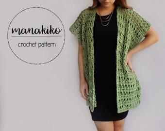 Kihei Kimono Pattern - Crochet Pattern - Kimono - Cardigan - Easy Pattern - Tutorial - DIY