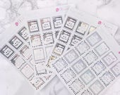 Happy Mail Mailer Planner Stickers - FOIL