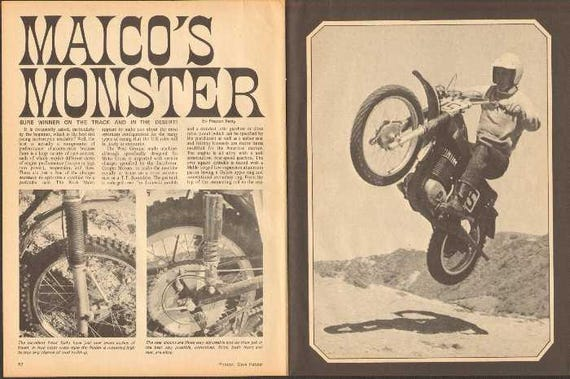 1969 Maico X4-A Motocross Motorcycle 4-Page Photo Article #nbk02