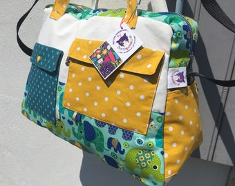 Large diaper bag, weekend * on order - fabric choices *.