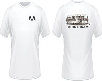 Airstream trailer camper custom t shirt rv motorhome available