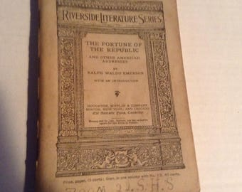 Riverside literature Series the Fortune of the Republic. 1889 Edition.