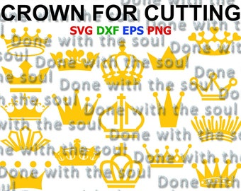 Crown clip art - Crown vector - Crown svg - Crown cut files - Crown princess svg - Svg eps dxf - Crown clipart - Cutting files - Vector file