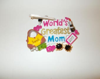 Worlds Greatest Mom Personalized Christmas Ornament