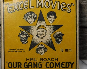 vintage 16mm Movies 'Our Gang' Frogs and Hornets Commencement Day Little Rascals Comedy Hal Roach Spanky Petey
