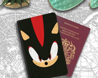 Shadow The Hedgehog Super Sonic Cartoon Speed Travellers Passport Cover PT164