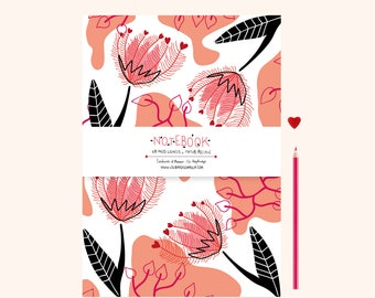 Notebook / Notepad A5 flowers