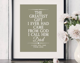 Son to Father Gift Father of the Bride Gift Daughter to Father Gift Personalized Gift for Dad Thank You Dad Gift Fathers Day Gift