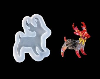 1 Silicone Resin Reindeer Mold -58 x 45mm (B463e)