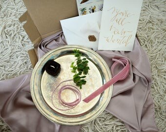 Styling kit for photographers, TRAY, fine art photography, velvet, vows, silver, styling, getting ready, BLUSH BROWN