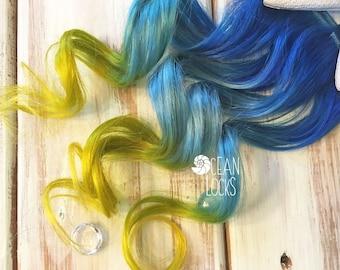 Blue Hair Extensions, Hair extensions clip in, Ombre hair extensions, Aqua hair, Mermaid Hair, Ombre Hair, Human Hair, Pastel Hair