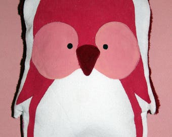 Small heating pad-pink Penguin - OOAK