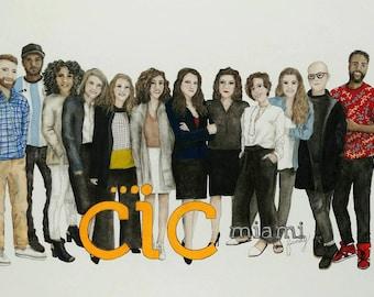 Custom Portrait, Custom Drawing, Family Portrait Drawing,  Pencil Portrait, Pastel Portrait, Pencil Drawing, Group Portrait, Group, Family
