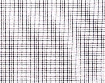 Fabric cotton white, Navy and Burgundy