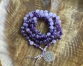 Harmony & Balance | 108 Mala Beads | Amethyst | Mala Necklace