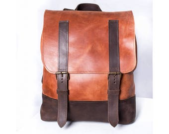 Handmade backpack, mens rucksack, womens backpack, brown backpack, mens backpack, school backpack, travel backpack, leather backpack purse