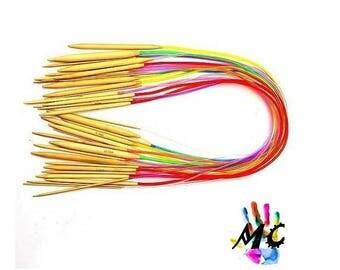 Set of 18 colors 80 cm Circular needles