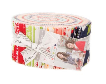 "Moda ""The Good Life"" by Bonnie and Camille ~ JELLY ROLL ~ 55150JR  ~ 40 2.5- Inch Strips"