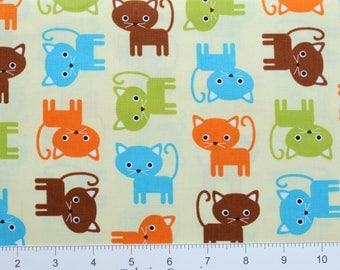 KITTENS ~ Urban Zoologie by Ann Kelle for Robert Kaufman ~ AAK15724237 ~ By The Half Yard ~