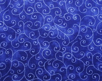 "Moda Basics ""MARBLE SWIRLS""  ~ 9908-24 Royal Blue ~ Tonal Dark Blue with Swirls ~ Half Yard Increments"