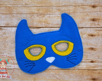 Pete The Cat Inspired Masks Pete Groovy Buttons Birthday Party Idea