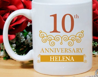 Personalized Mug Beautiful And Memorable Gift For 10th Anniversary