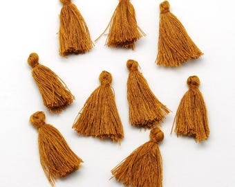 10 25mm Camel colored tassels