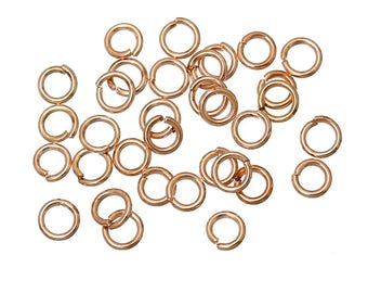 150 4mm rose gold plated jump rings