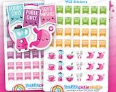 95 Cute Weight Loss Surgery/Bariatric/Gastric/Stomach Planner Stickers, Filofax, Happy Planner, Erin Condren, Kawaii, Cute Sticker, UK