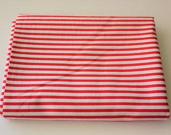 Medium Stripe, Quilting, Basic Fabric, Stripe Fabric, Striped Fabric, Bold Red, White Base, 100% Cotton Fabric, Half Meter, Extra Wide