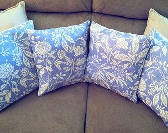 4 x purple cushion covers