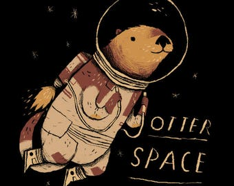 Otter Space, space otter T-shirt / otter shirt Otter T-shirt tee. / otter lover / otter fan / cute animal shirt / otter puns / funny shirts
