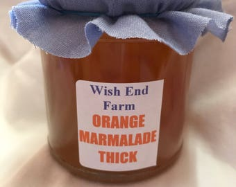 Orange Thick Peel Marmalade Homemade 200g (7oz) Jar, Food Gift, Birthday Gift, Easter Gift, Fathers Day,No Preservatives, Seville Oranges
