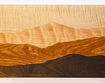 Mountain view wood cutting board