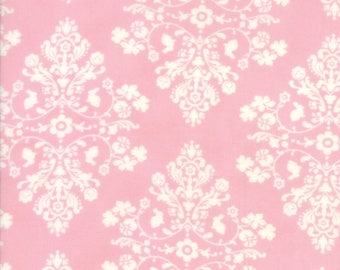 Moda Fabric - Lily and Will Revisited - Pink - 2802 41 - 100% cotton fabric - Choose the length of fabric