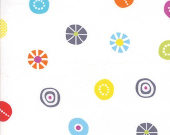 Moda - Hey Dot by Zen Chic - Candy - White - 1602 11 - 100% cotton fabric by the yard(s)