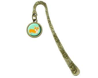 Quirky Corgi Book Bookmark Placeholder With Charm