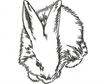 AR 001 Rabbit - Machine Embroidery Design, 4*4, 7*5